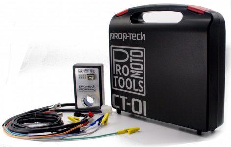 Prop-tech CT01 Áramfelvétel elemző, 0-300A méréshatárral motorkerékpárokhoz